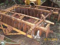 Grade niveladora tatu 28 discos trabalha arrasto hidráulica P/ trator Massey Ford John Deere Valmet