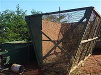 Transbordo parte gaiola canavieira grãos amendoim silagem agrícola rodoviária trator de pneus Massey