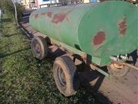 Tanque irrigação depósito p/ água 4 mil litros chassi 4 rodas pneus agrícola p/ trator Massey Ford