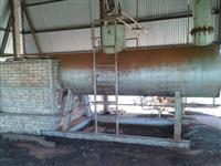 Caldeira tamanho 10,5 E 250 kg por hora 3600 L  água válvula de alívio chaminé barracão cobertura