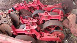 Rodas de plantadeira traseira borracha em V