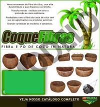 VASOS ARTESANAIS DE FIBRA DE COCO / PÓ DE COCO SECO / FIBRA DE COCO
