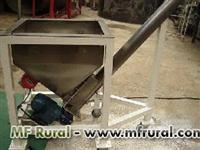 Rosca transportadora helicoidal de aço carbono e inóx 304