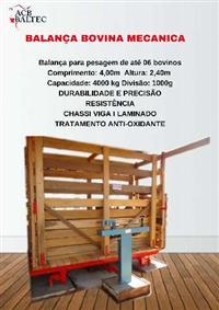 ACB - BALANÇA MECÂNICA P/ PESAGEM DE BOVINOS
