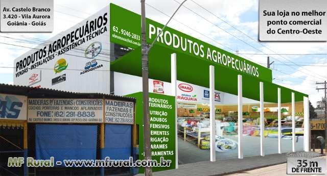 Alugo loja para produtos agropecuários, tratores, implementos e máquinas