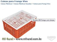 EMBALAGEM PLASTICAS PARA TRANSPORTE DE FRANGO VIVO