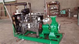 Conjunto Moto Bomba motor MWM 6 TCA Série 10 com Bomba KSB WKL 100/6