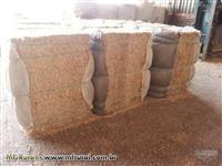 Palha de milho, Palha e milho, Sabugo - (Silagem de milho): triturado e prensado