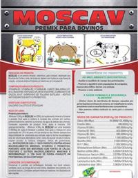 MOSCAV PREMIX 10KG (FRETE GRÁTIS PARA TODO O BRASIL)