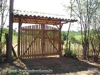 Cercas de madeira eucalipto tratado