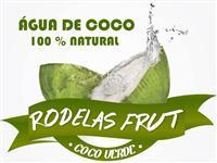 ÁGUA DE COCO RODELAS FRUT - 100% NATURAL E REFRESCANTE