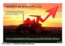 CRÉDITO RURAL TAXA DE 0,10% A.M
