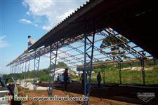 Aviarios, granjas, barracao metalico, galpao metalico, estrutura metalica