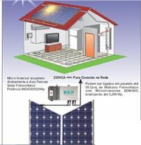 Kit Geração Solar Com 02 Painel Solar De 260w ongrid