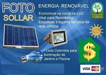 Energia solar com iluminação de led