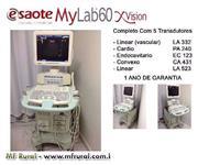 Aparelho de Ultrassom Esaote MyLab 60 Xvision LCD Doppler Pacote Cardio + Vascular.