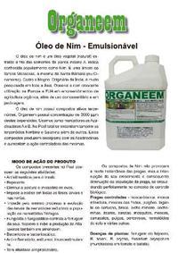 óleo de neem emulsionável orgânico