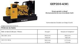 GERADOR DE ENERGIA CATERPILLAR GEP 200 ANO 2013