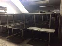Mesas de Inox com Pé em Inox - Lote 106  #3355