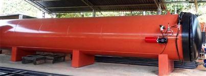 Autoclave para tratamento de madeiras