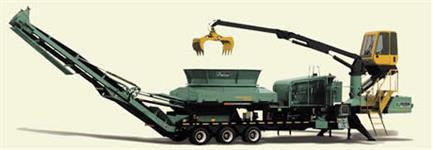 Triturador Móvel de resíduos de madeira ou palha de cana-de-açúcar - ALTA PRODUÇÃO