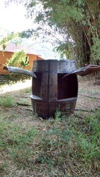 Barraca em forma de barril