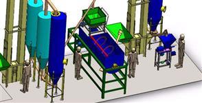 Fábrica de cimento/argamassa/fertilizantes/ração e outros.
