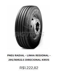 PNEU RADIAL - LINHA REGIONAL - 295/80R22.5 DIRECIONAL KRS15 KUMHO