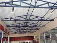 estrutura metálica, cobertura, telhado.