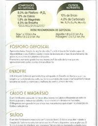 FERTILIZANTE GEFOSCAL 8% P205 ; 12% Ca; 1,8% Mg; 4,0% S; 10% Si