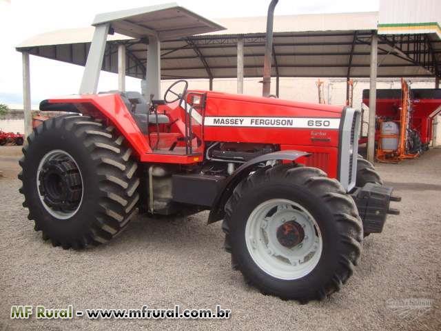 Trator Massey Ferguson 650 4x4 ano 98