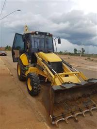 RETROESCAVADEIRA NEW HOLLAND, B110 4X4, ANO 2012, SEMINOVA, COM 5552 HORAS