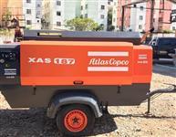 COMPRESSOR ATLAS COPCO, MODELOXAS187, ANO 2009, TODO REVISADO, MOTOR NOVO, 400 PCM, 8 BAR, TOTALMEN