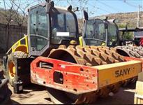 ROLO COMPACTADOR SANY SSRP120 PATAS ANO 2012, COM CABINE FECHADA E AR, 3000 HORAS TRABALHADAS, TOTAL