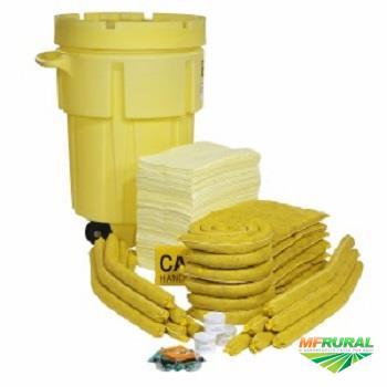 Kit Emergência Proteção Ambiental Container 360 Litros Linha Amarela Spilltech Qualidade Superior