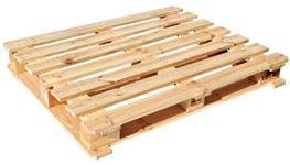 Pallets e embalagens de madeira.