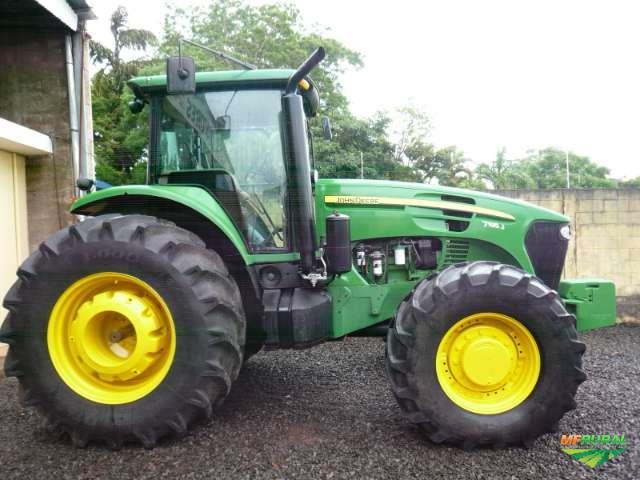 Trator John Deere 7195J 4x4 ano 14