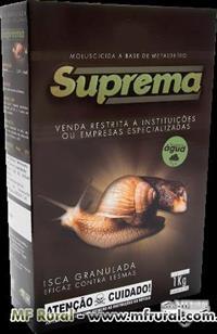 Isca Moluscicida Suprema Advance 5%  Caixa com 12 unidades de 1 kg