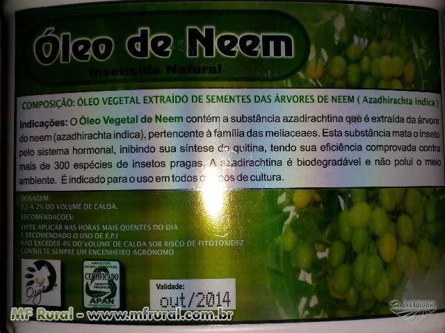 OLEO DE NEEM  PURO  INSETICIDA ORGANICO