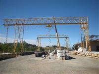 Pórtico/Ponte rolante - 10t - altura de 9,5m, vão de 18m entre trilhos