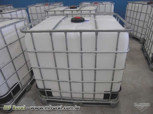 Compro container ibc 1000 litros outros outros compro for Estanque para agua de 1000 litros