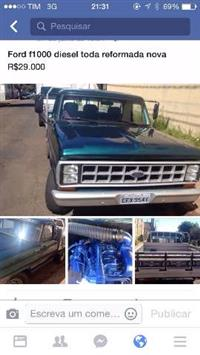 Ford F1000 ano 84 carroceria madeira toda revisada pintura nova