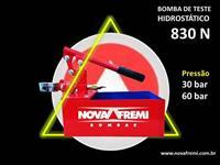 BOMBA DETESTE HIDROSTÁTICO MODELO 830 N  – PRESSÃO 60 BAR - NOVA FREMI - RESERVATÓRIO 7 LITROS
