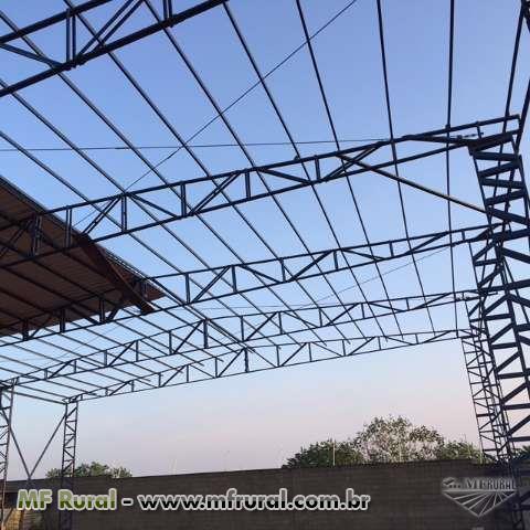 CONSTRUÇAO ,AMPLIAÇAO DE GALPOES METALICOS ,MEZANINOS E QUADRAS POLIESPORTIVAS METALICAS