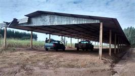 Barracão em estrutura metalica, de 125m comprimento por 12,0 largura