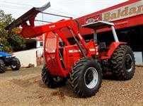 Trator Massey Ferguson 650 HD 4x4 ano 2007 com Conjunto de Lamina TATU 4x4 ano 07