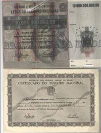 LETRA DO TESOURO NACIONAL - LTNs Repactuadas- Séries Z, H, R e M - COMPLETAS