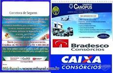 Consórcio de imóveis, caminhões, autos e maquinários em geral