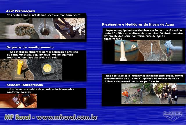 Poços de monitoramentos e Piezômetros