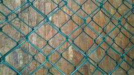"""Tela Alambrado malha de 3"""" fio 12 revestido em PVC verde"""